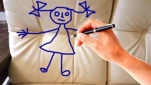 Как вывести ручку с дивана. Чем отмыть ручку с дивана из ткани?