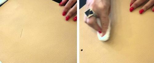 Как с кожи удалить ручку. Как оттереть ручку от сумки?